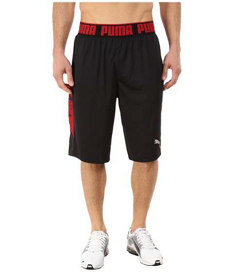 PUMA - Mixed State Shorts II (Black/Scooter Print) Men