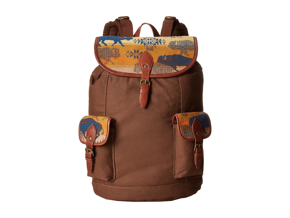 Pendleton - Canvas Rucksack (Land Of The Buffalo) Backpack Bags