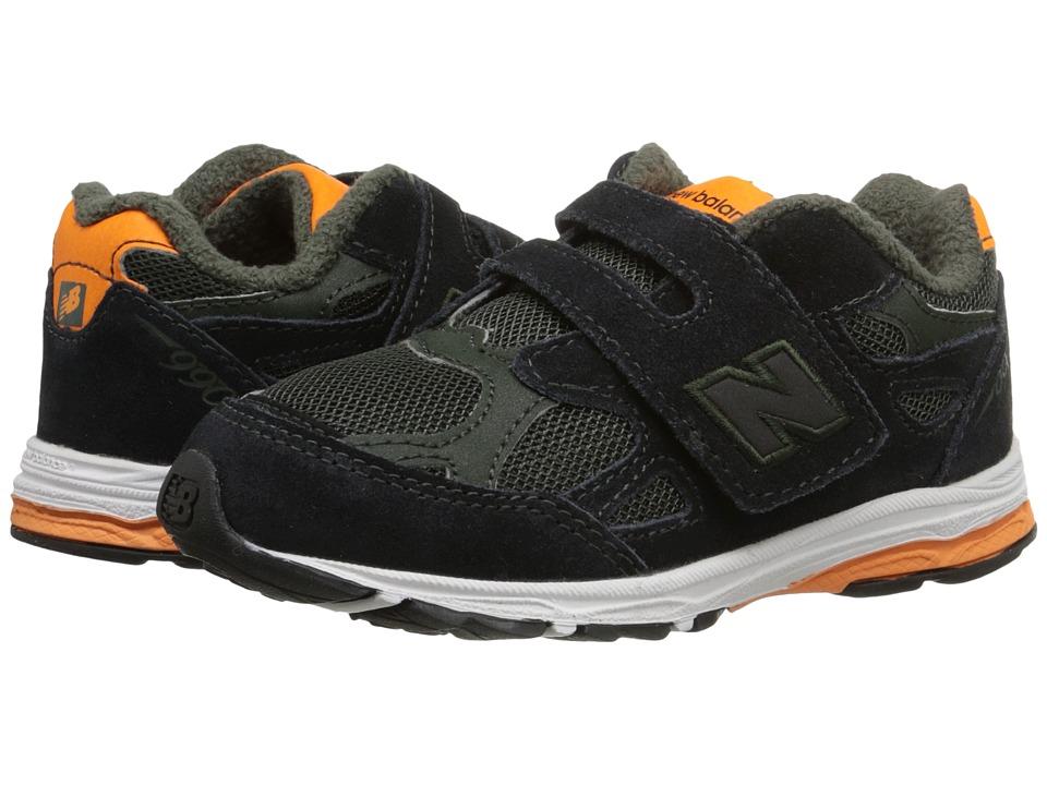 New Balance Kids - 990v3 (Infant/Toddler) (Green/Orange) Boys Shoes
