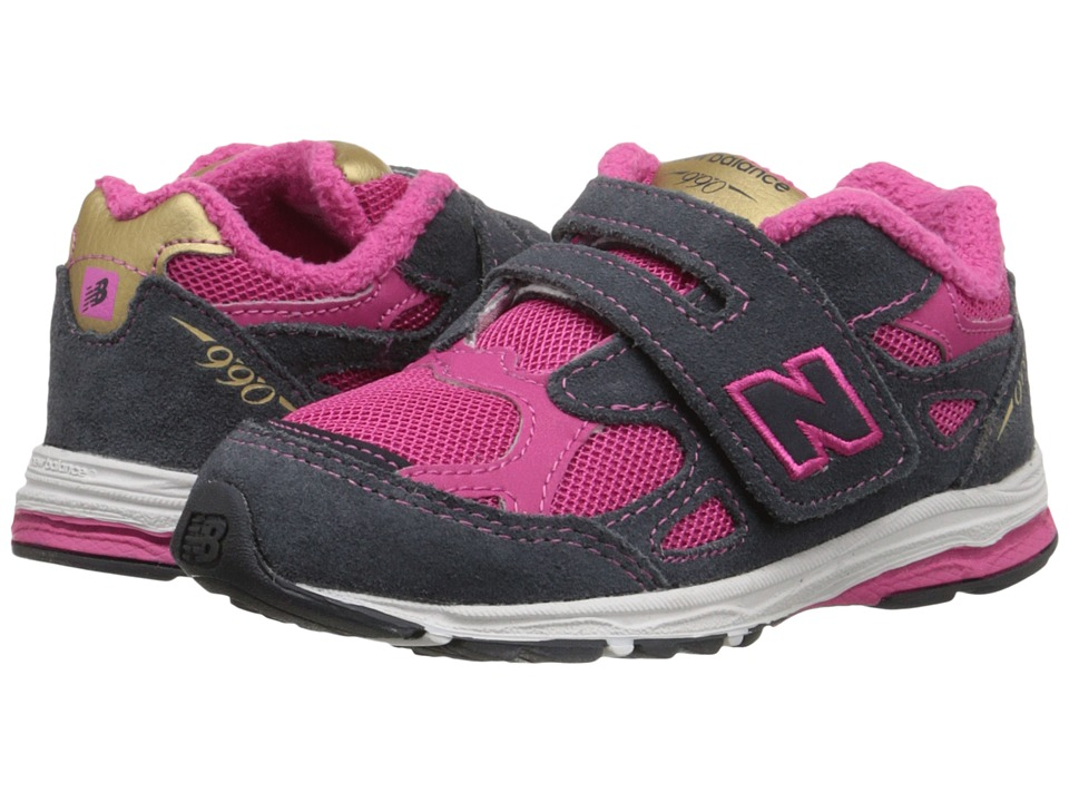 New Balance Kids - 990v3 (Infant/Toddler) (Pink/Grey) Girls Shoes