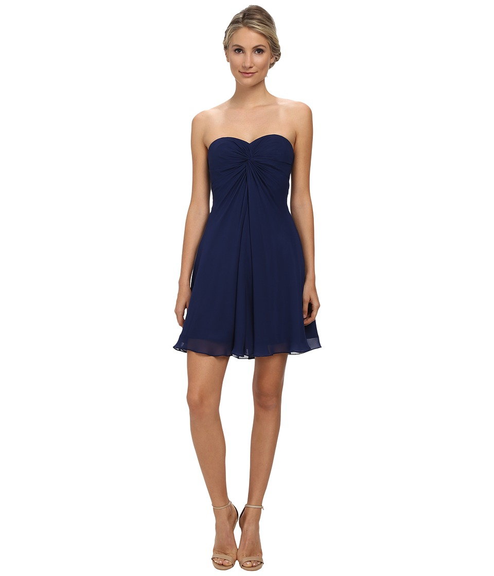 Faviana - Short Chiffon Corset Dress 7650 (Navy) Women's Dress