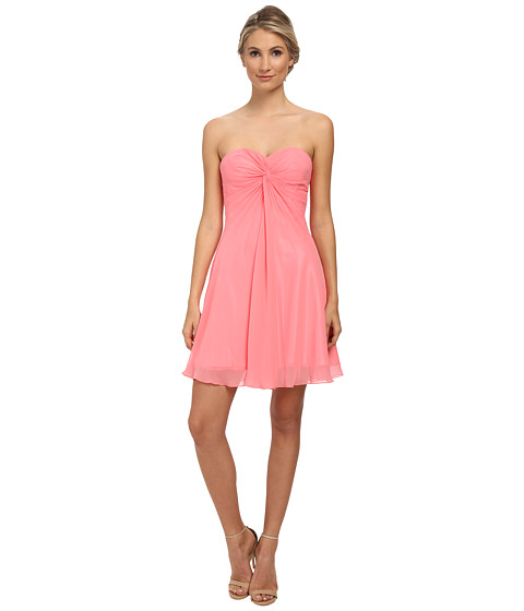Faviana - Short Chiffon Corset Dress 7650 (Pink Lemonade) Women's Dress