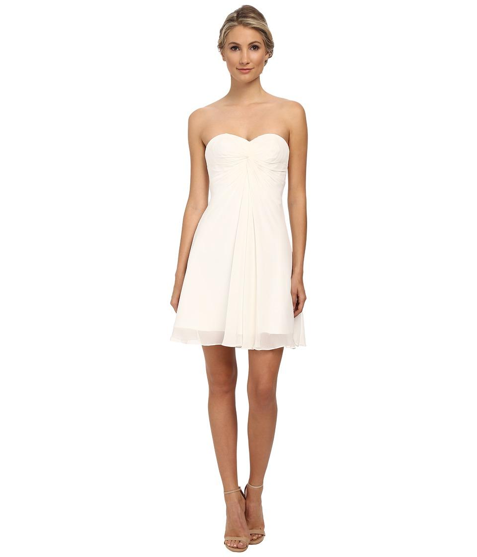 Faviana - Short Chiffon Corset Dress 7650 (Ivory) Women's Dress