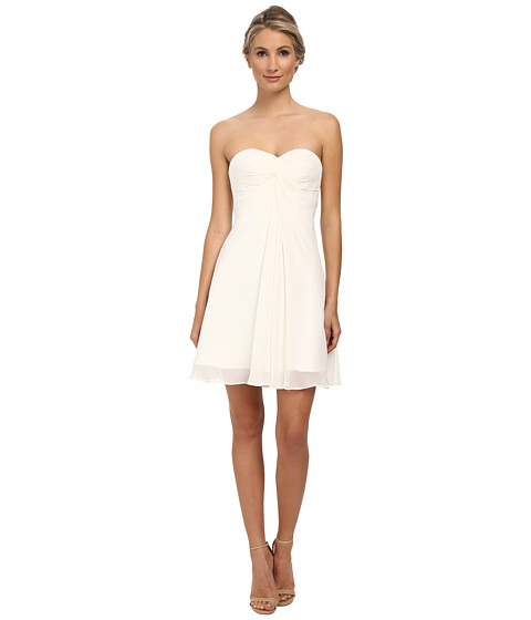Faviana - Short Chiffon Corset Dress 7650 (Ivory) Women