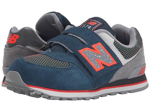 New Balance Kids - 574 Outside In (Little Kid/Big Kid) (Blue/Grey) Boys Shoes