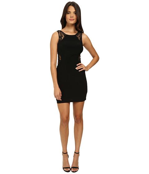 Faviana - Jersey Lace Dress 7657 (Black) Women's Dress