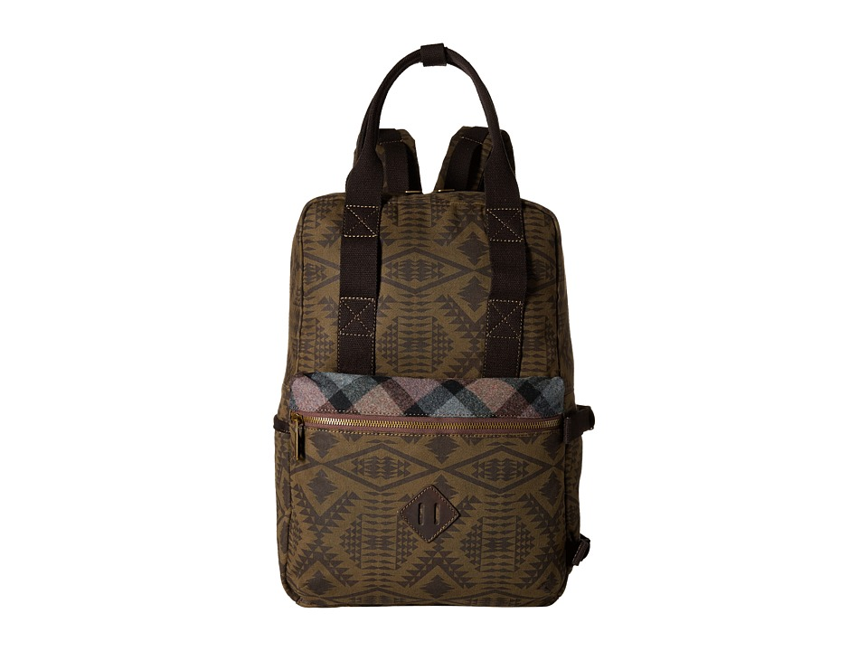 Pendleton - Timberline Twill Backpack Tote (Diamond River Tonal) Backpack Bags