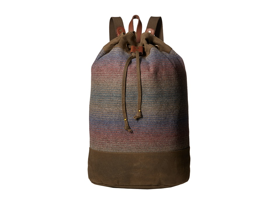 Pendleton - Timberline Twill Duffel Backpack (Yakima Camp Stripe) Backpack Bags