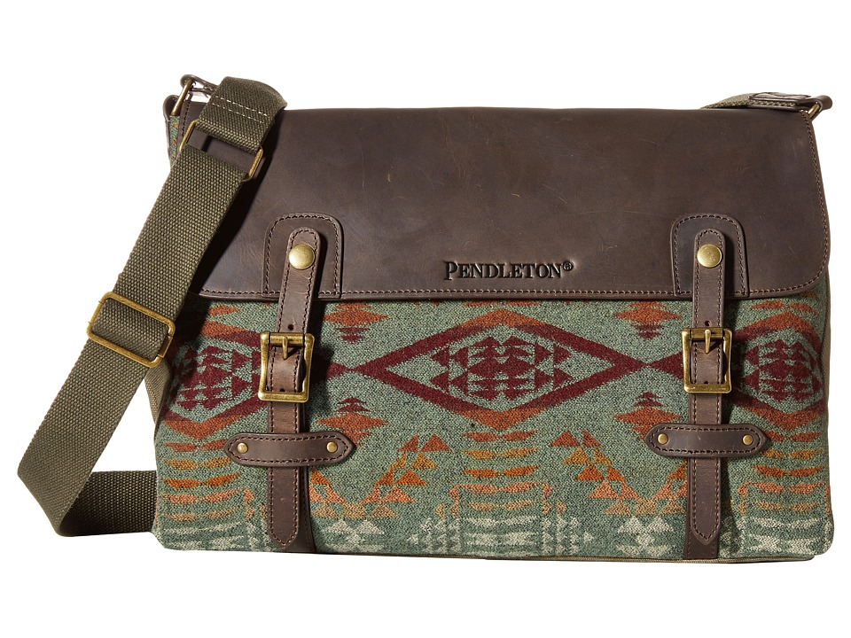 Pendleton - Mineral Messenger Bag (Diamond River Sage) Messenger Bags