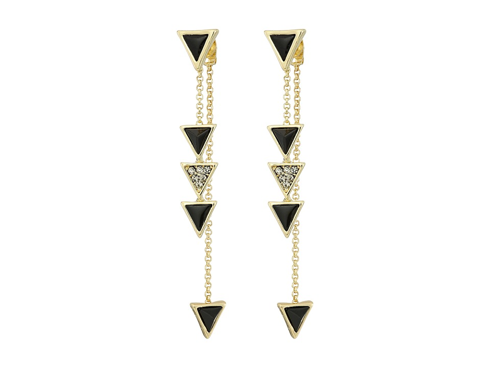 House of Harlow 1960 - Triangle Trellis Drop Earrings (Black) Earring