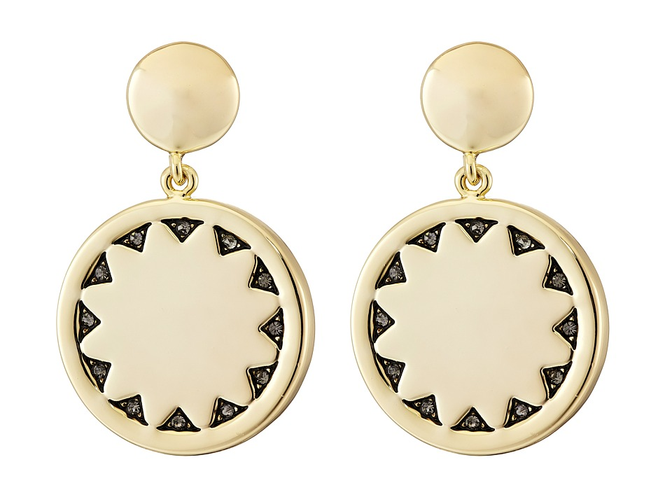 House of Harlow 1960 - Incan Sun Coin Drop Earrings (Gold) Earring