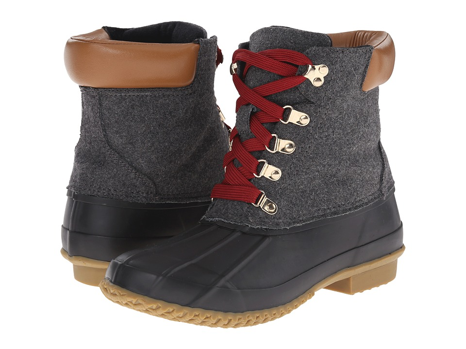 Joie - Delyth (Charcoal Rubber/Felt) Women's Lace-up Boots