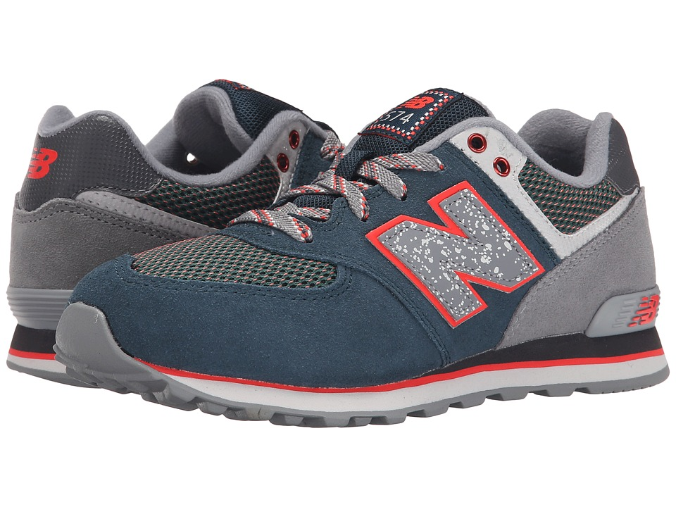 New Balance Kids - 574 Outside In (Big Kid) (Blue/Grey) Boys Shoes