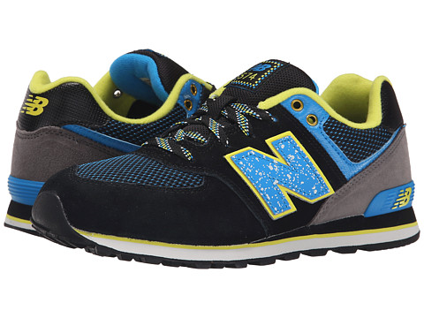 New Balance Kids - 574 Outside In (Big Kid) (Black/Blue) Boys Shoes