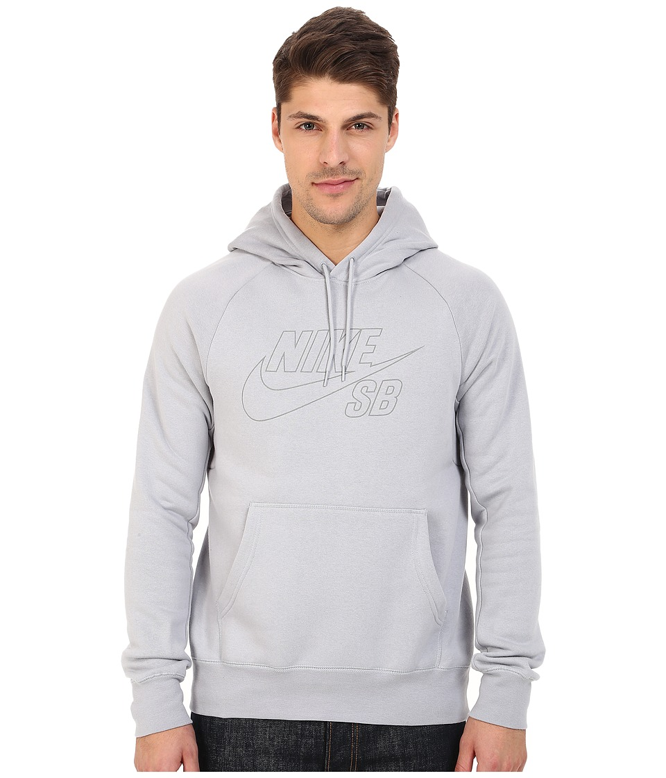 Nike SB - SB Icon Reflective Pullover Hoodie (Wolf Grey/Reflective Silver) Men's Sweatshirt