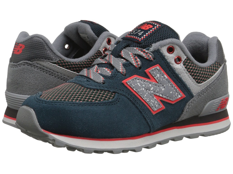 New Balance Kids - 574 Outside In (Little Kid) (Blue/Grey) Boys Shoes