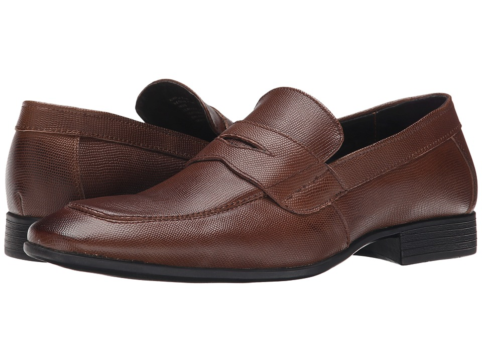 Robert Wayne - Reggie (Brown Pebble) Men's Slip on Shoes