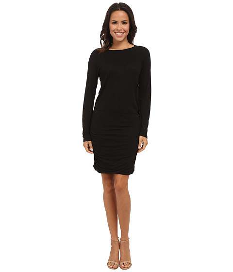 Allen Allen - Ruched Dress (Black) Women's Dress