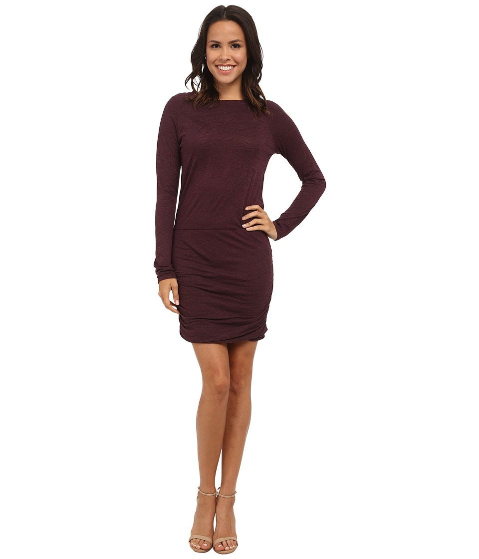 Allen Allen - Ruched Dress (Eggplant) Women's Dress