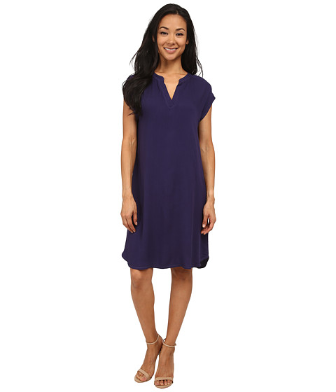 Allen Allen - Splitneck Dress (Limousine) Women