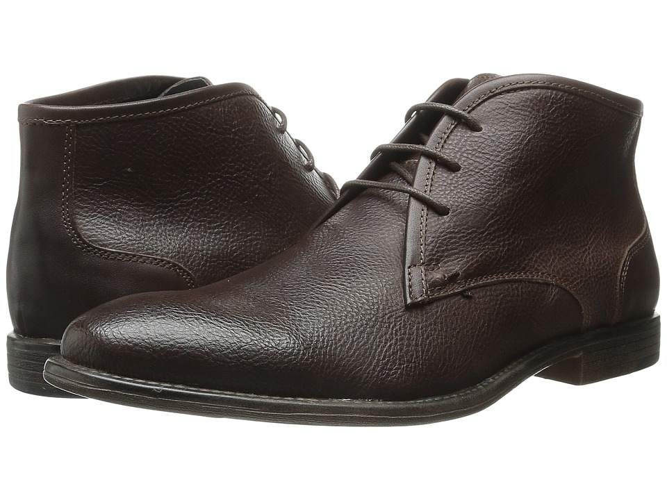 Robert Wayne - Graham (Textured Rust) Men's Lace-up Boots