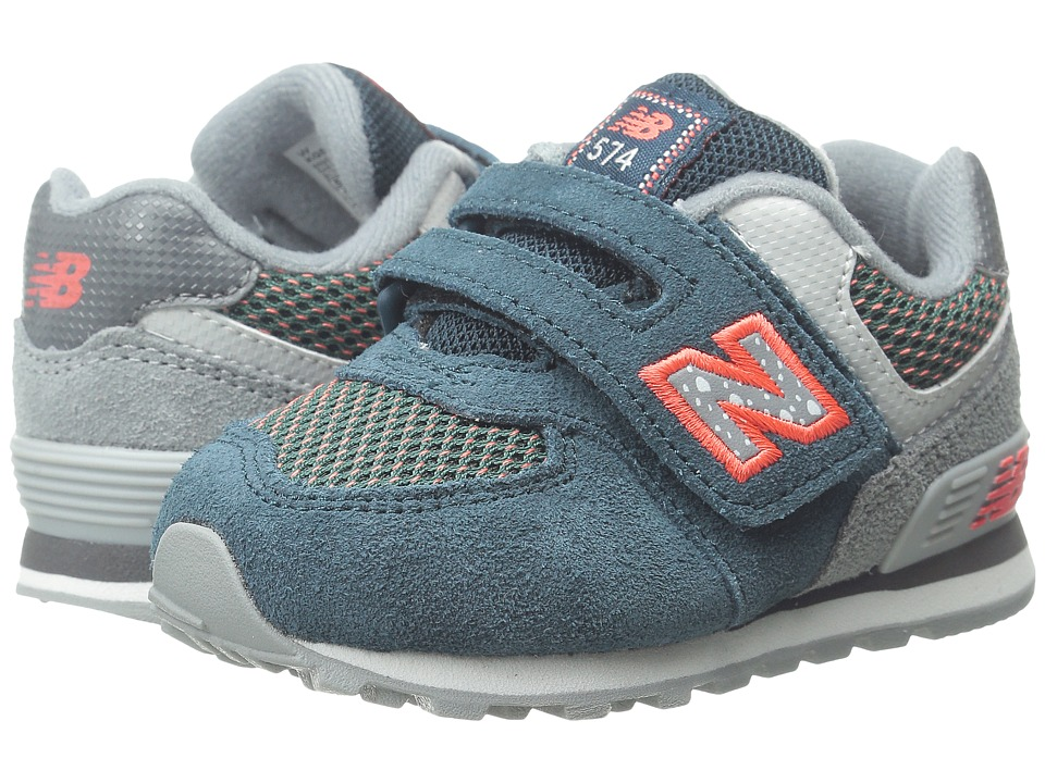 New Balance Kids 574 Outside In (Infant/Toddler) (Blue/Grey) Boys Shoes