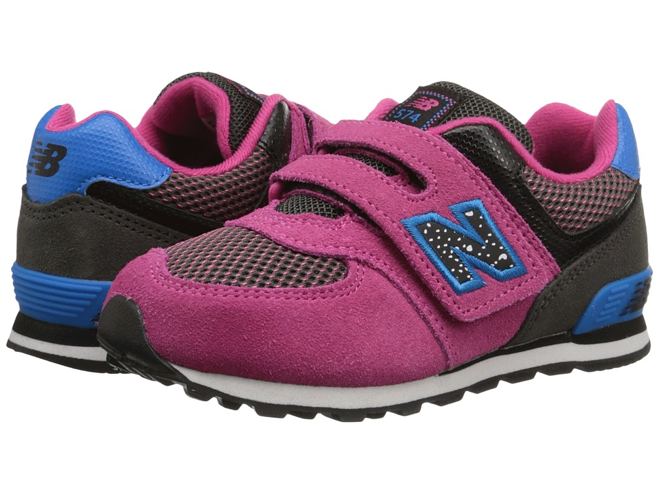 New Balance Kids - 574 Outside In (Infant/Toddler) (Black/Pink) Girls Shoes
