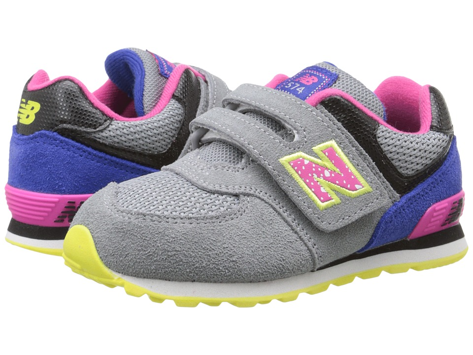 New Balance Kids - 574 Outside In (Infant/Toddler) (Grey/Pink) Girls Shoes