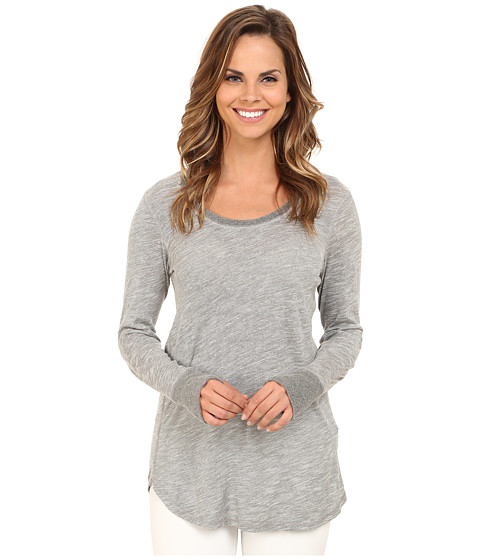 Allen Allen - Long Sleeve Thumbhole Tee (Grey Heather) Women's Long Sleeve Pullover