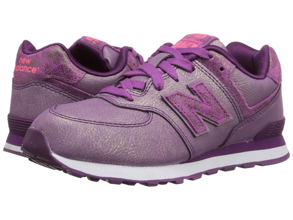New Balance Kids - 574 Mineral Glow (Little Kid) (Purple) Girls Shoes