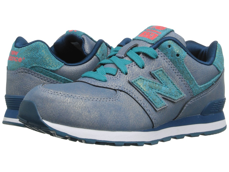 New Balance Kids - 574 Mineral Glow (Little Kid) (Teal) Girls Shoes