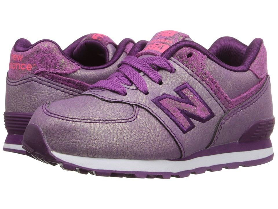 New Balance Kids - 574 Mineral Glow (Infant/Toddler) (Purple) Girls Shoes