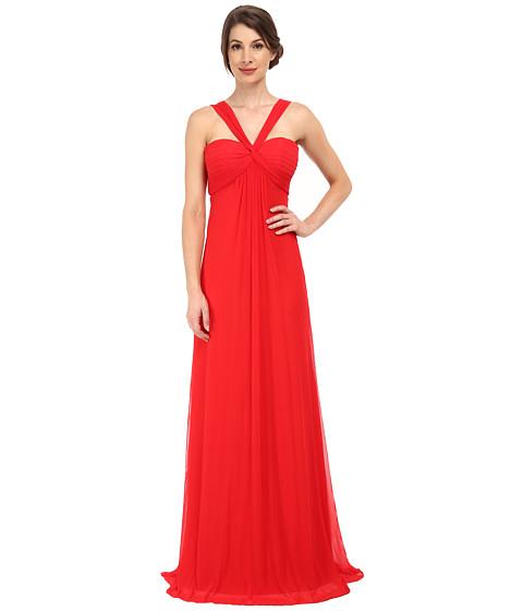 Faviana - Mesh Halter Long Gown 7672 (Red) Women's Dress