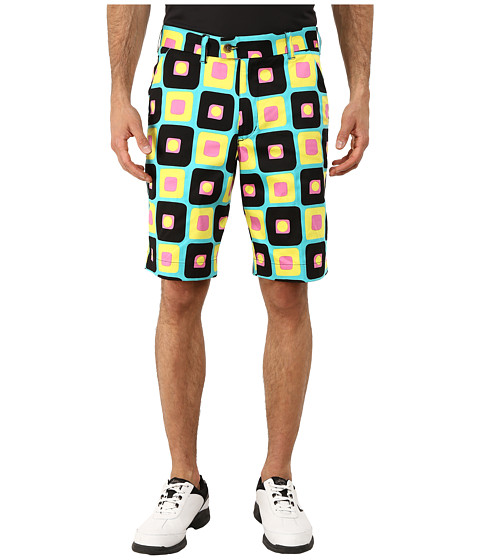 Loudmouth Golf - Couch Potato Shorts (Medium Yellow) Men's Shorts