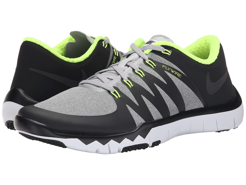 Nike - Free Trainer 5.0 V6 AMP (FLT Silver/Volt/Black) Men's Cross Training Shoes