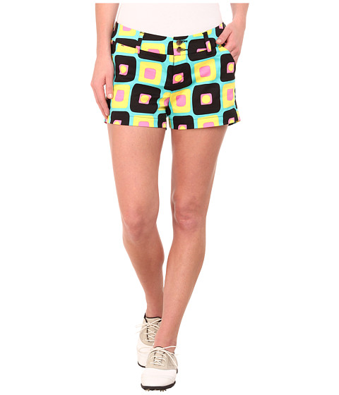 Loudmouth Golf - Couch Potato Mini Shorts (Medium Yellow) Women's Shorts