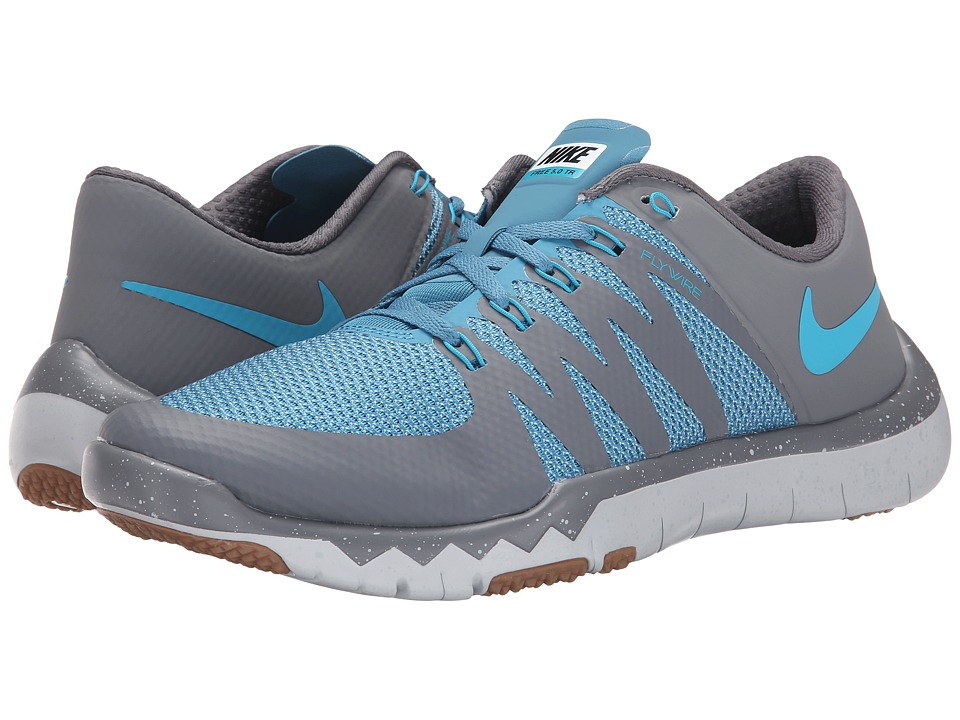 Nike Free Trainer 5.0 V6 (Cool Grey/Stratus Blue/Pure Platinum/Blue Lagoon) Men