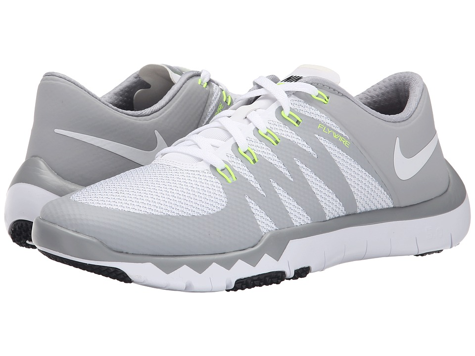 Nike - Free Trainer 5.0 V6 (White/Wolf Grey/Metallic Silver/White) Men