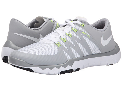Nike - Free Trainer 5.0 V6 (White/Wolf Grey/Metallic Silver/White) Men's Cross Training Shoes