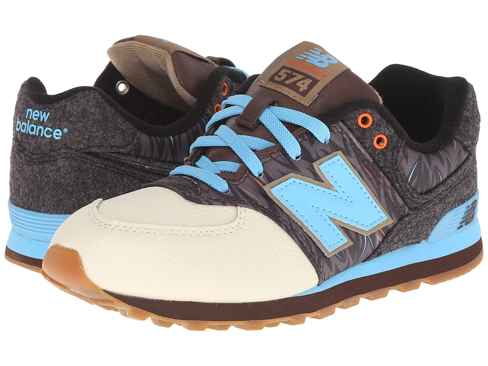 New Balance Kids KL574 Deep Freeze (Big Kid) (Brown/Blue) Boys Shoes