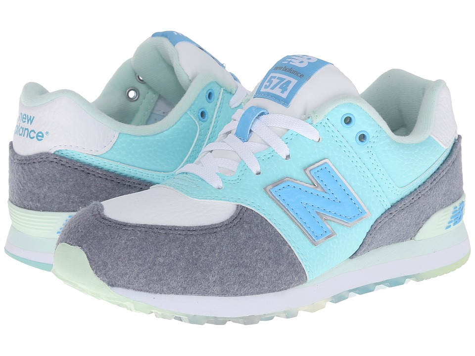 New Balance Kids KL574 Deep Freeze (Big Kid) (Arctic Blue) Boys Shoes