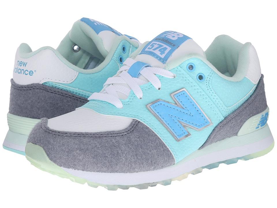 New Balance Kids 574 Deep Freeze (Little Kid) (Arctic Blue) Girls Shoes
