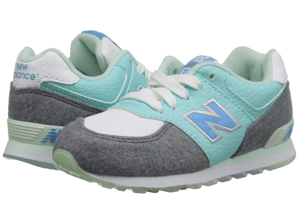 New Balance Kids - 574 - Deep Freeze (Infant/Toddler) (Arctic Blue) Kids Shoes