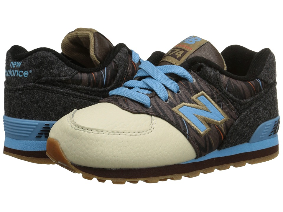 New Balance Kids - 574 - Deep Freeze (Infant/Toddler) (Brown/Blue) Kids Shoes