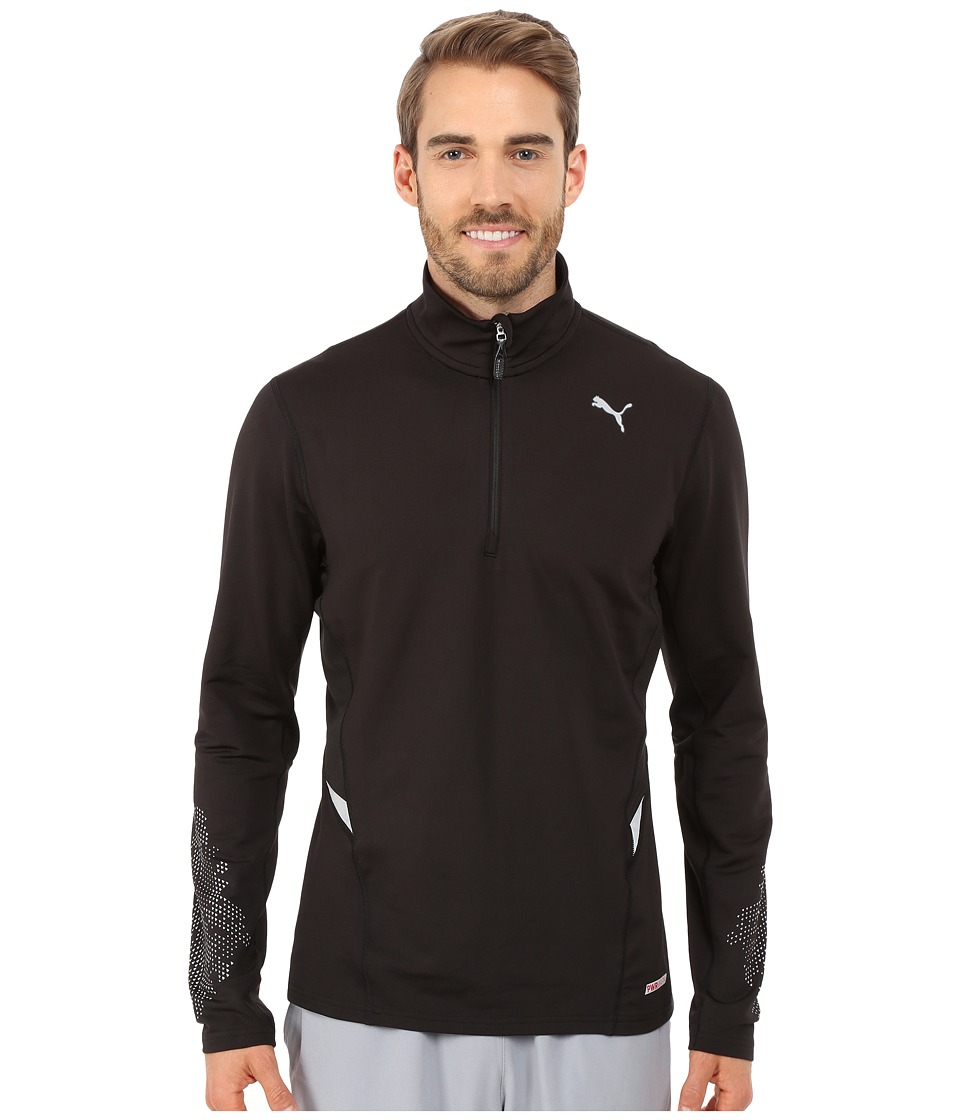 PUMA - Nightcat Power Warm Long Sleeve Top (Black) Men's Long Sleeve Pullover