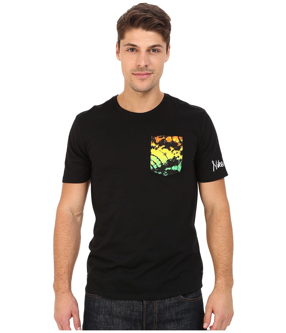 Nike SB - SB Dri-Fit Tie-Dye Tee (Black/White/White) Men's T Shirt