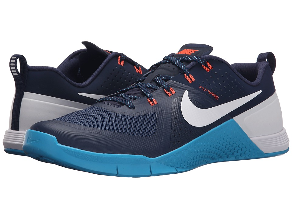 Nike - Metcon 1 (Midnight Navy/Blue Lagoon/Hyper Orange/White) Men's Cross Training Shoes