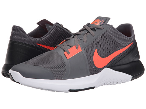 Nike - FS Lite Trainer 3 (Dark Grey/Black/Cool Grey/Hyper Orange) Men's Cross Training Shoes