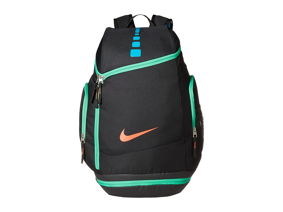 Nike - Hoops Elite Max Air Team Backback (Black/Blue Lagoon/Bright Crimson) Backpack Bags