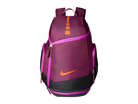Nike - Hoops Elite Max Air Team Backback (Mulberry/Black/Bright Crimson) Backpack Bags